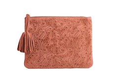 ela editors pouch flower party in rust