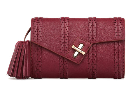 Mini MILCK Clutch - Braid - burgundy