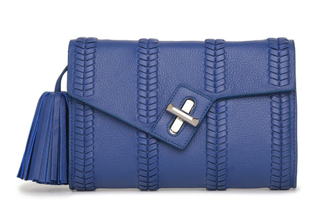 Mini MILCK Clutch - Braid - cobalt