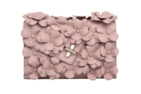 Mini MILCK Clutch - Floral Petals - antique rose floral petals