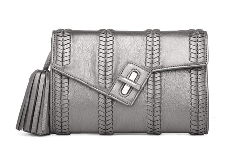 Mini MILCK Clutch - Braid - gunmetal