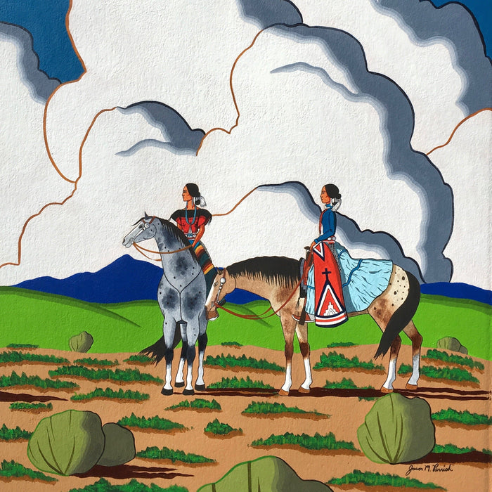 Navajo Artist, Jason Parrish, at Raven Makes Fine Native American ArtGallery