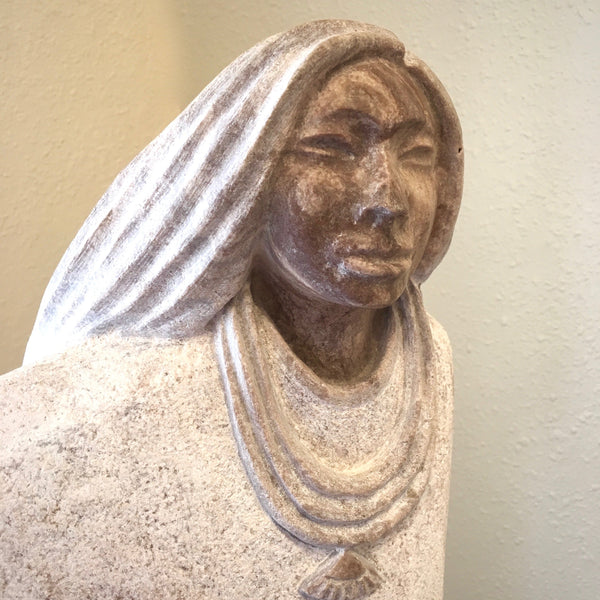 Sculpture, by Cliff Fragua, Native American Artist at Raven Makes Gallery; fine Native Art at Raven Makes Gallery
