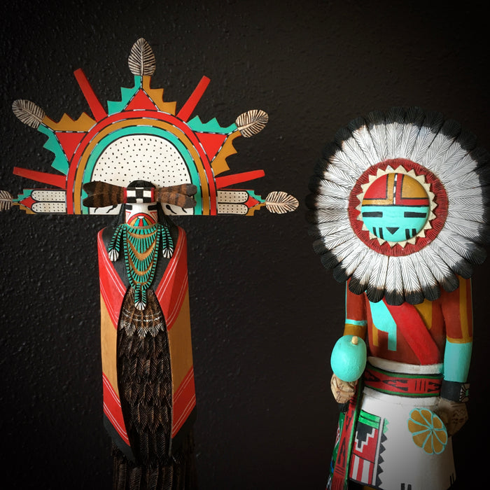 Kachina Dolls, Hopi Sculptures at Raven Makes Native American Art Gallery in Sisters, Oregon