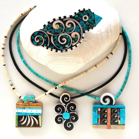 Mary Tafoya Jewelry at Raven Makes Gallery