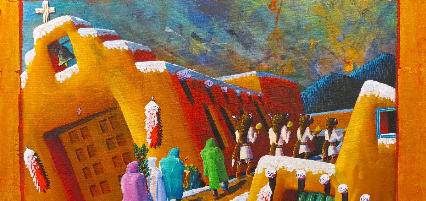 Church Painting, by David Suazo, Taos Pueblo