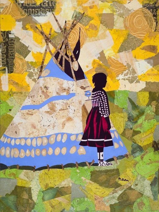 Piegan Girl with Play Tipi, by Mark Shelton