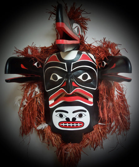 """Baxw'bak' walanux' siwe"" Northwest Coast Articulating Mask, by Gary Peterson"