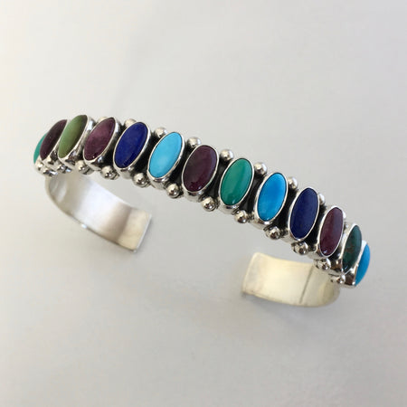 Slender Cuff Navajo Bracelet, by Dee Nez at Raven Makes Gallery