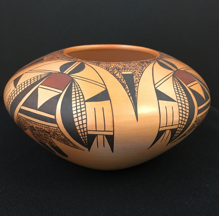 Pottery, by Garrett Maho, Winged Corn Beings Hopi Pot