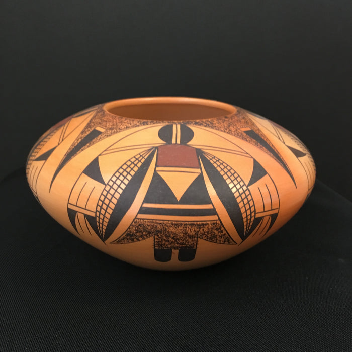 Winged Corn Beings Hopi Pot, by Garret Maho