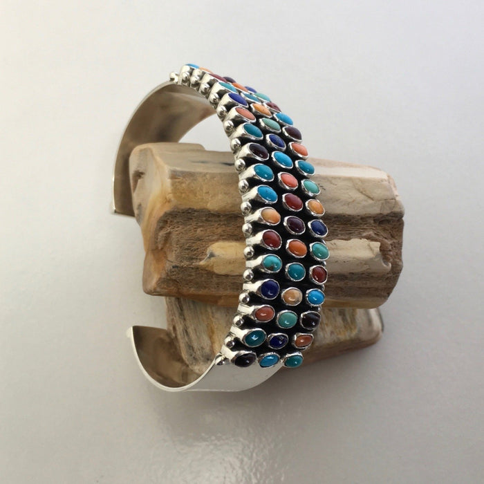 Three Rows Cuff Bracelet, by Dee Nez