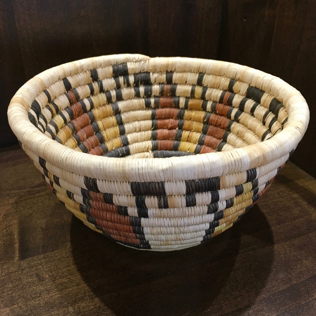 Hopi Polychrome Basket-Bowl, Second Mesa