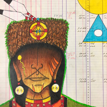 rrance Guardipee, Blackfeet, at Raven Makes Gallery