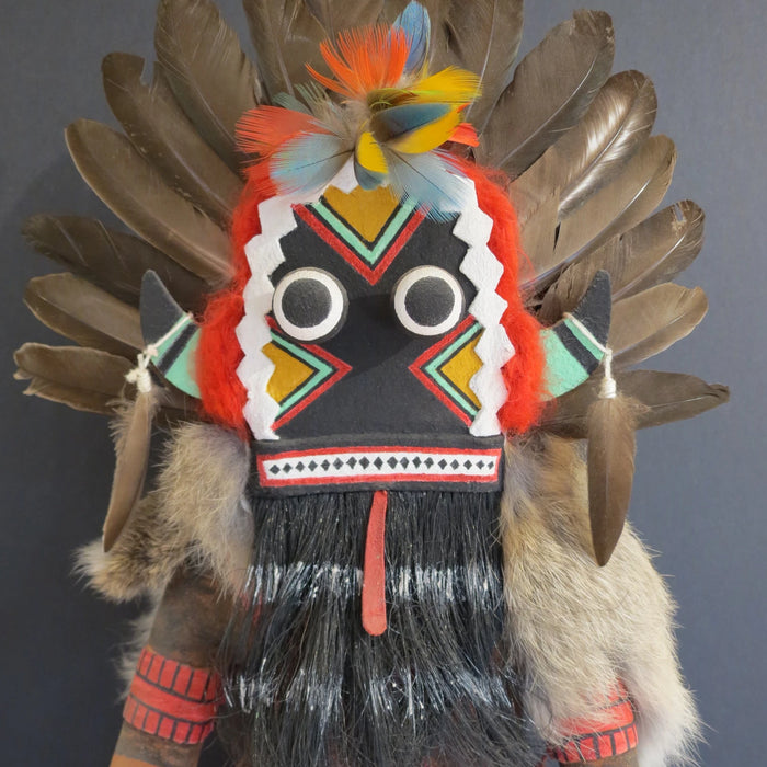 Broad-Faced Kachina at Raven Makes Galler