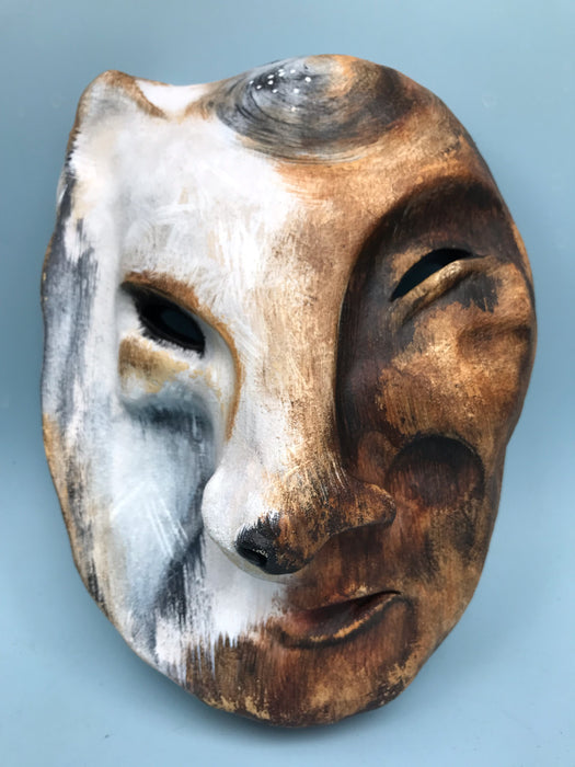 Fox Transformation Ceramic Mask, by Terresa White