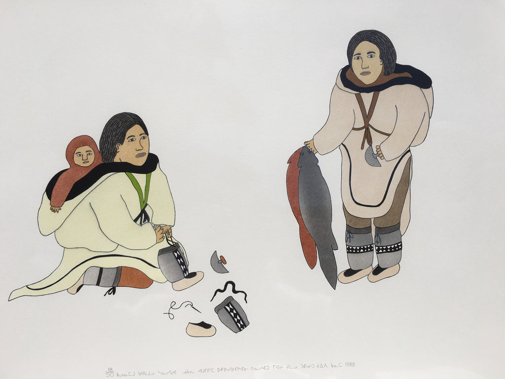 Inuit Family, Holman Lake Print