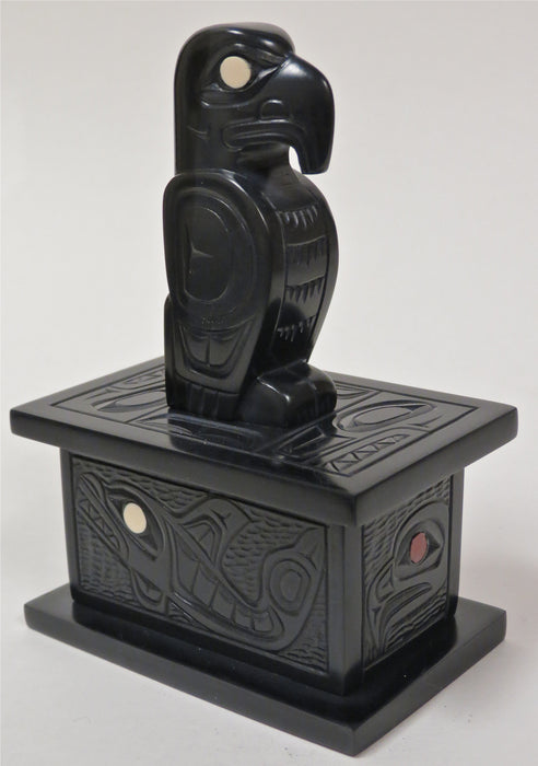 Argillite Eagle Box, by Glenn Pollard