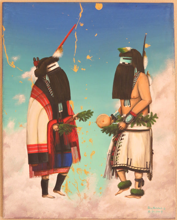 Rain Pair Dancers, by Elroy Natachu, Jr.