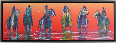 Reflections, Horses and American Indian Riders, by Raymond Nordwall