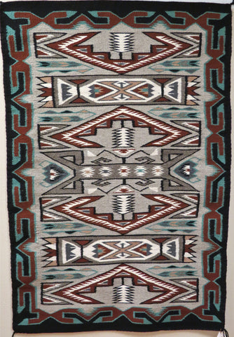 Teec Nos Pos Navajo Rug, by Nellie Bitsui