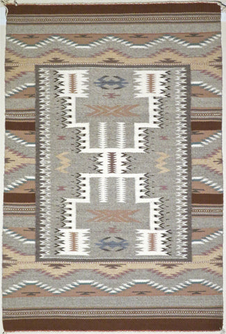 Wide Ruin with Storm Pattern Navajo Rug, by Patricia Giloezine