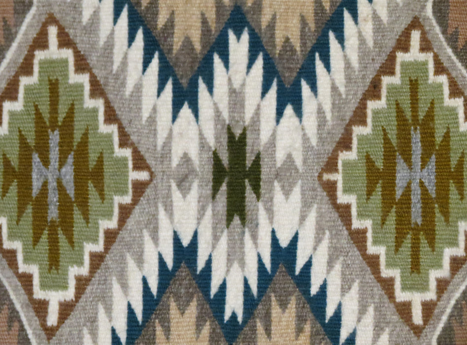 Contemporary Teec Nos Post Navajo Rug, by Angeline Begay