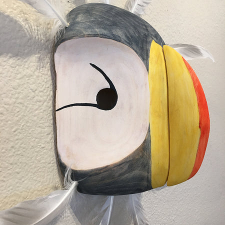 Horned Puffin Yup'ik Mask, by Jennifer Angaiak-Wood, Yup'ik Artist
