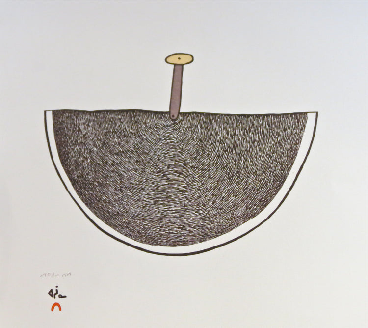 Magic Ulu 2016 Cape Dorset Print, by Ningeokuluk Teevee