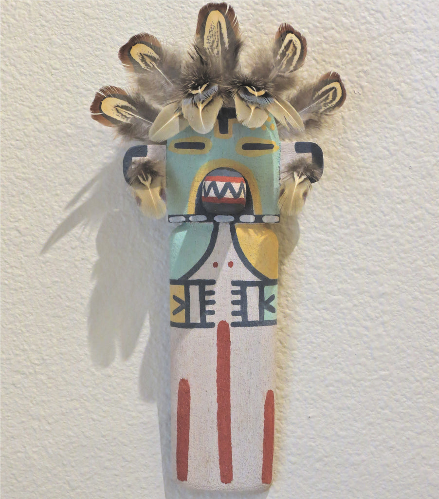 Badger Wall Hanger Kachina, by Dwight Menongya