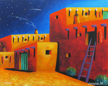 Taos Pueblo Painter, David Gary Suazo at Raven Makes Gallery