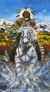 Native Horse and Rider Oil Painting, by Raymond Nordwall