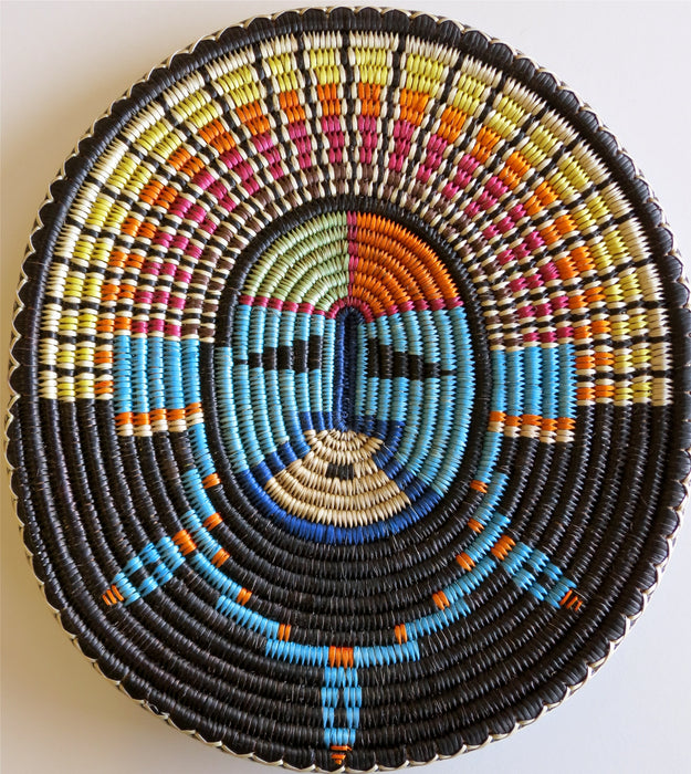 Sun Face Sumac Basket, by Elsie Holiday