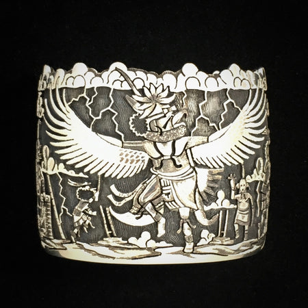 Hopi Silver Bracelet at Raven Makes Gallery