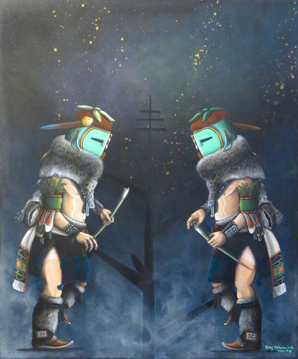 Zuni Kachina Painting, by Elroy Natachu, Jr.