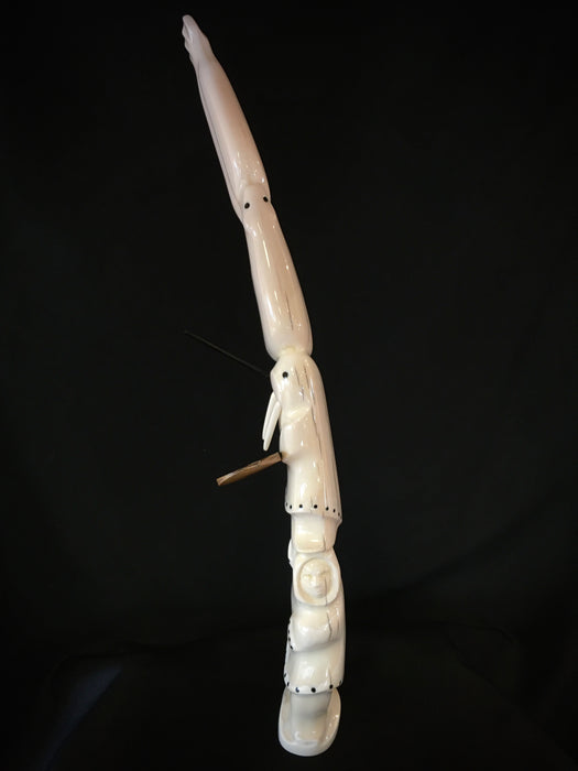 Carved Walrus Tusk, by Mark and John Tetpon