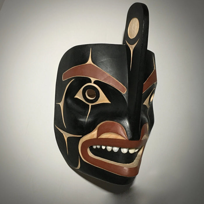 Orca Mask, by David Boxley, at Raven Makes Native American Art Gallery in Sisters, Oregon