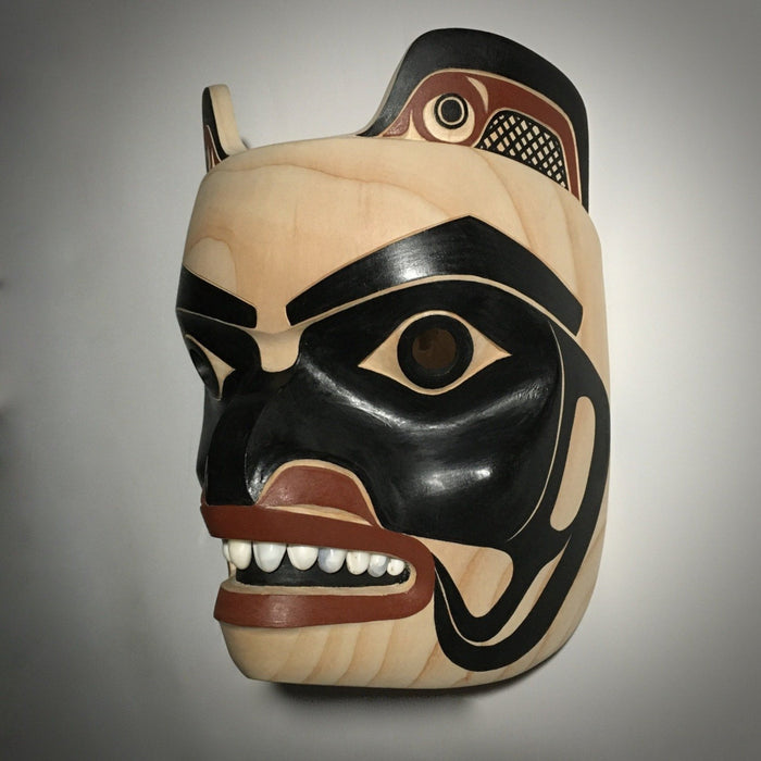 Bear Mask, by David Boxley, at Raven Makes Gallery, Oregon