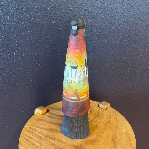 Necklace by Kewa Artist, Mary Louise Tafoya, at Raven Makes Gallery