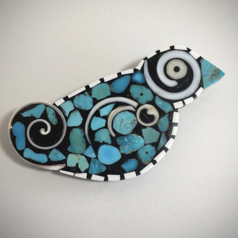 Bird Pin/Pendant, by Mary L. Tafoya
