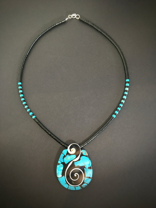Mosaic Native American Jewelry, by Mary Tafoya at Raven Makes Gallery