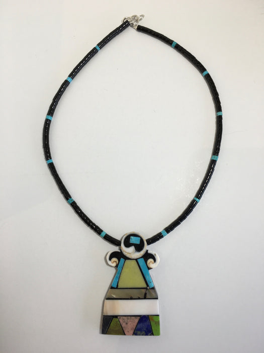 Mosaic Rise to the Top Necklace, by Mary L. Tafoya