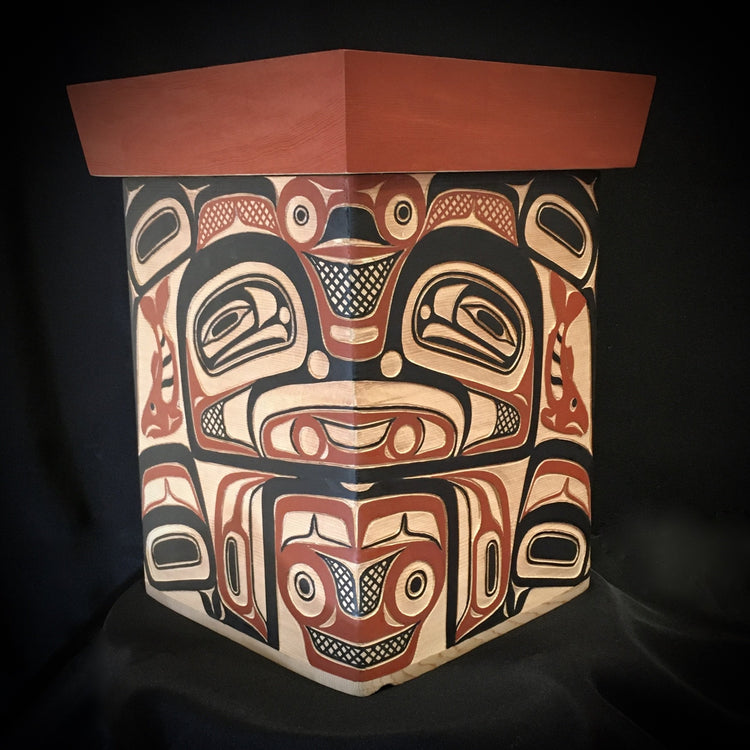 Traditional Bentwood Box, by David A. Boxley