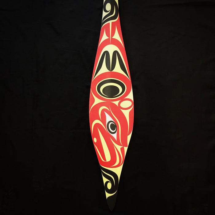 Thunderbird Coast Salish Paddle, by Maynard Johnny, Jr.