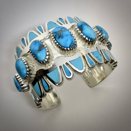 Vernon Haskie Turquoise Cuff Bracelet, Raven Makes Gallery Jewelry