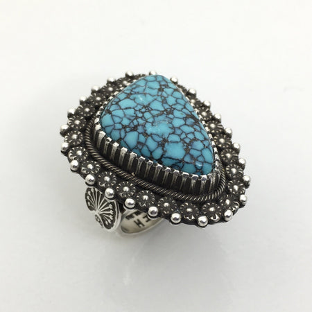Turquoise Ring, Navajo Jewelry by Ivan Howard at Raven Makes Gallery