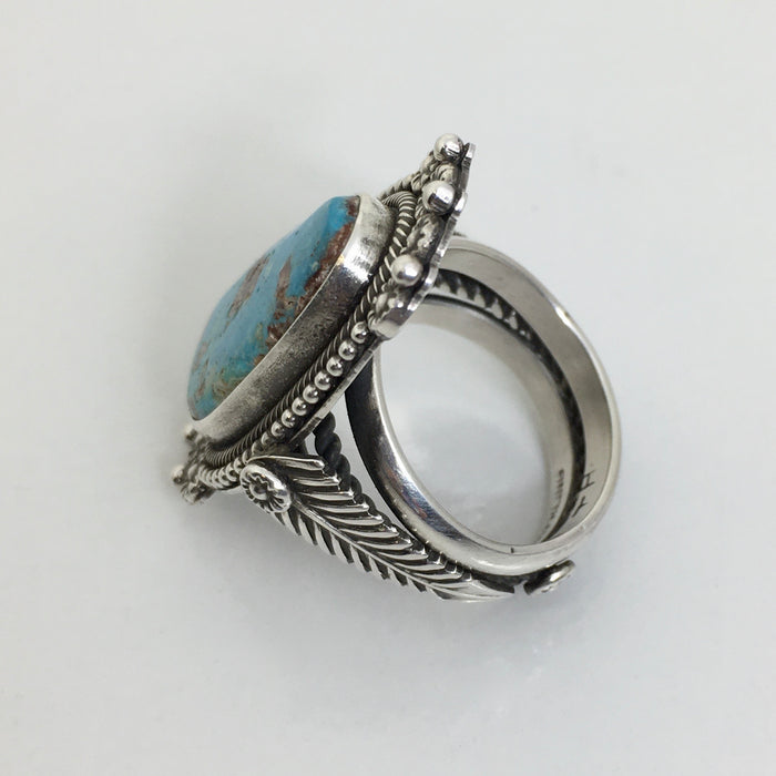 Bisbee Turquoise and Silver Ring, by Ivan Howard