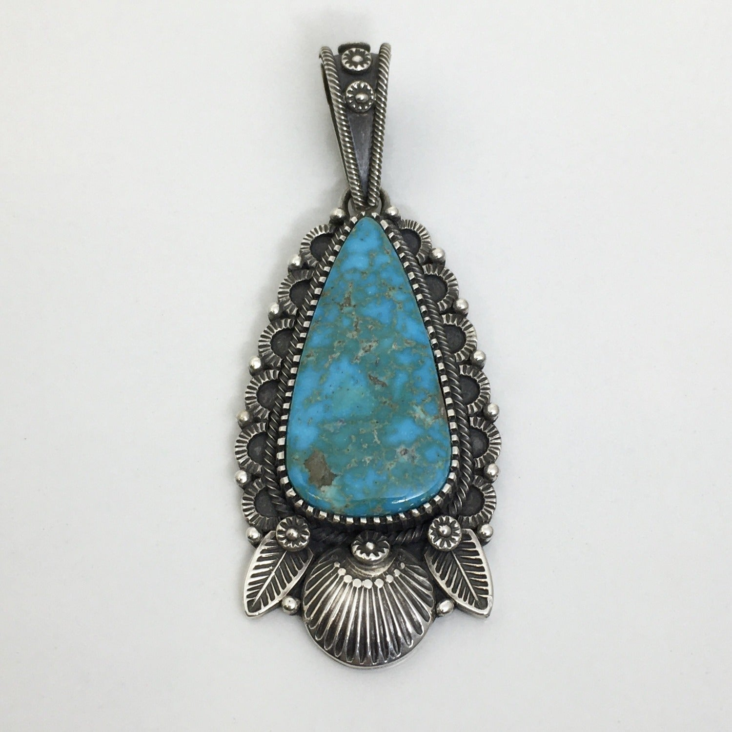 Turquoise Pendant, Navajo Jewelry by Ivan Howard at Raven Makes Gallery