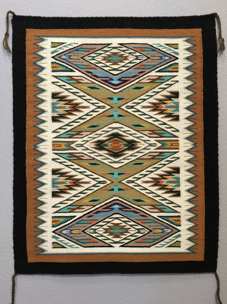 Navajo Rug, by Darlene Littleben, at Raven Makes Gallery