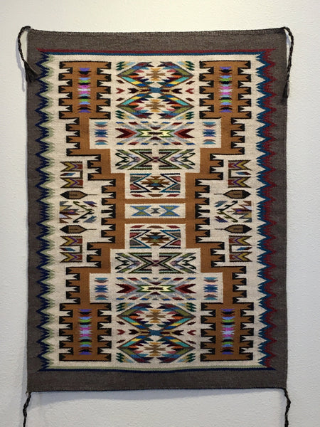 Navajo Rug, by Bessie Littleben, at Raven Makes Gallery